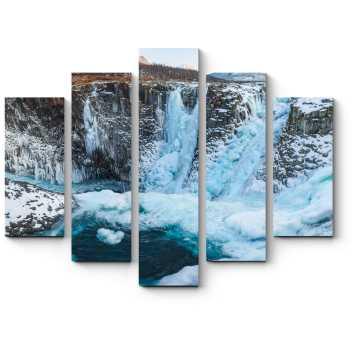 Модульная картина Водопад в плато Путорана
