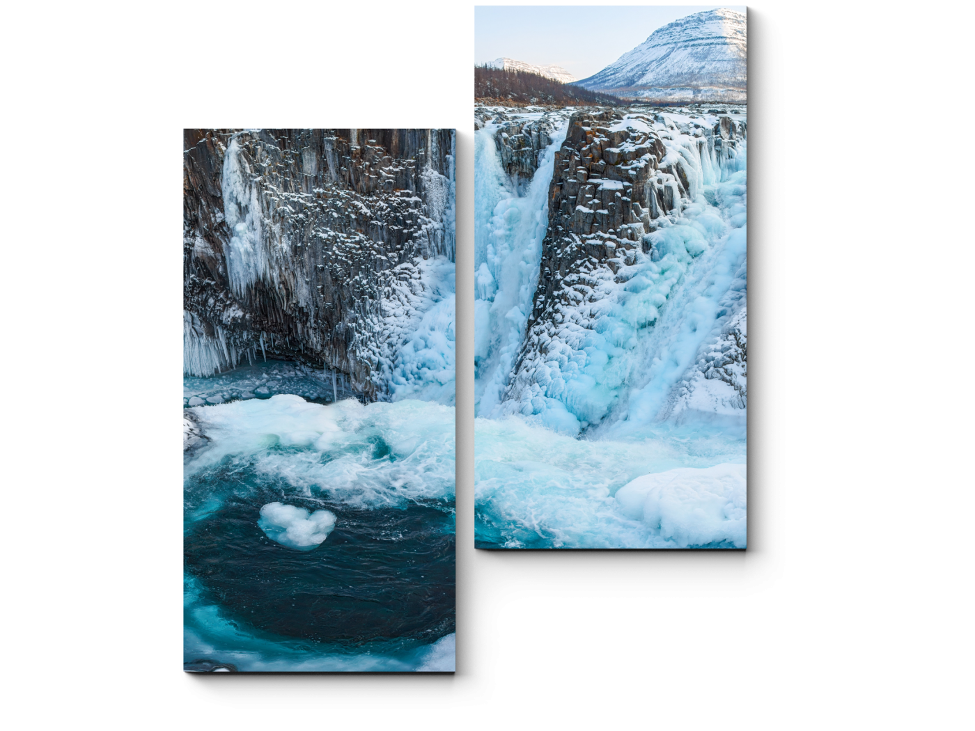 Модульная картина Водопад в плато Путорана (40x50) фото