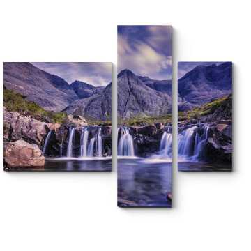 Модульная картина Водопады в горах