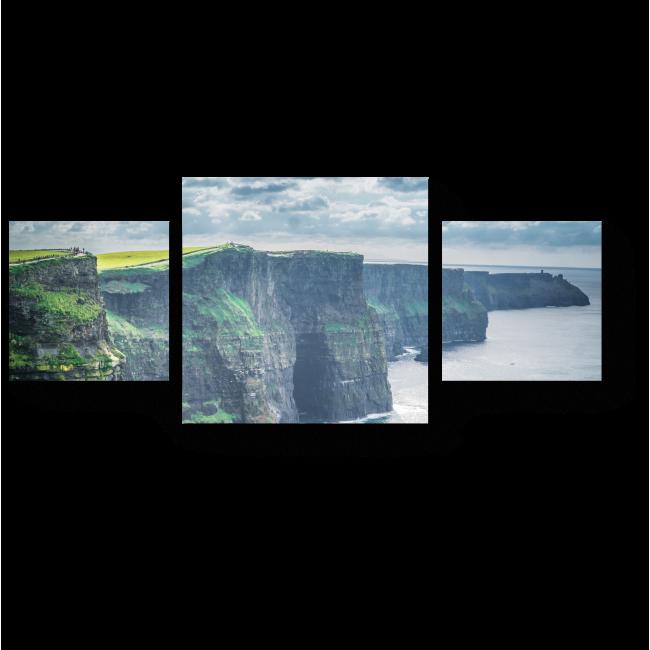 Модульная картина Двухсотметровые скалы Ирландии