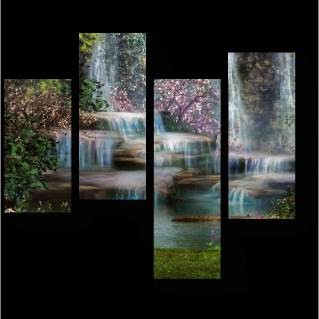 Модульная картина Райский уголок