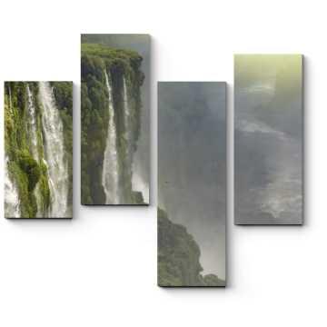 Модульная картина Мохнатый водопад