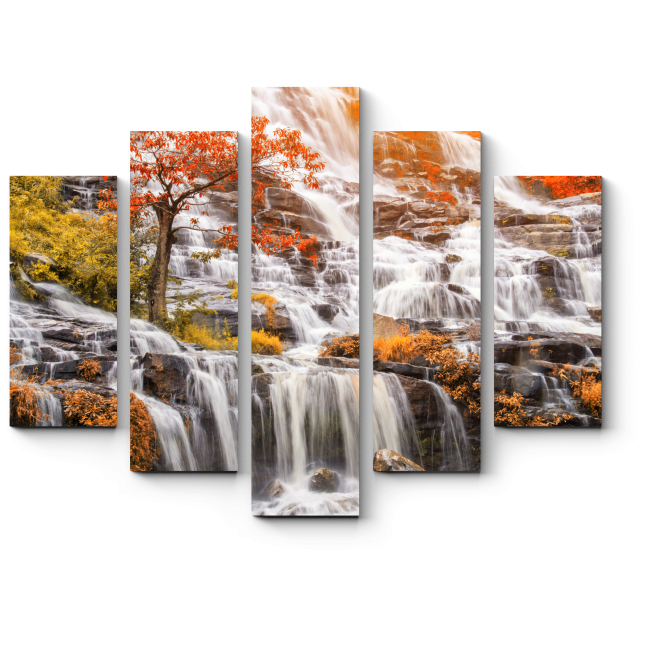 Модульная картина Райский водопад, Тайланд
