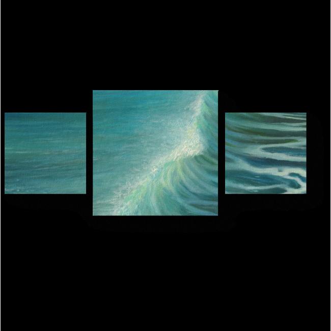 Модульная картина Изумрудный океан