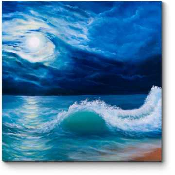 Модульная картина Полнолуние над океаном