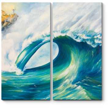Модульная картина На гребне волны