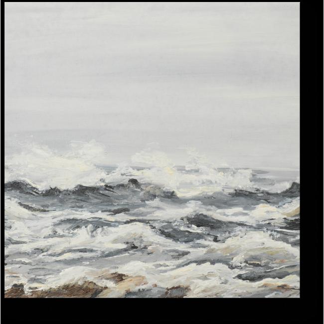Модульная картина Океан в тумане
