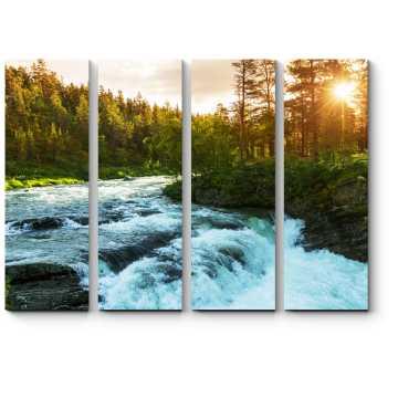 Модульная картина Кристально чистая река