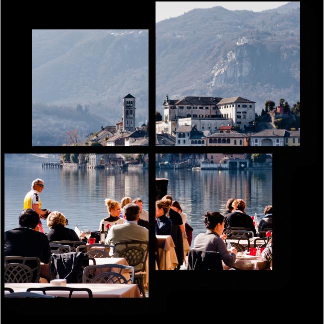 Модульная картина Озеро Орта, Италия
