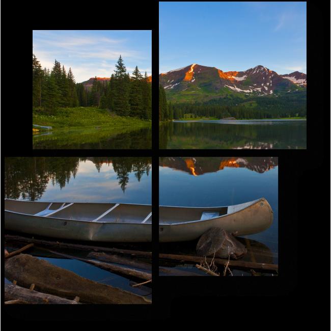 Модульная картина Спокойное озеро в Колорадо