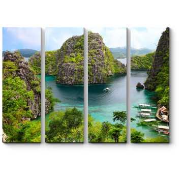 Модульная картина Острова на Филиппинах