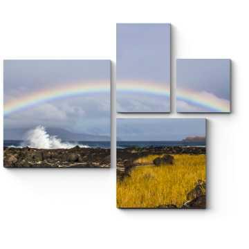 Модульная картина Волны и радуга