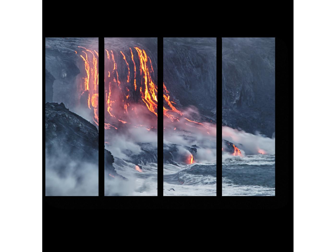 Модульная картина Гавайский вулкан (60x45) фото