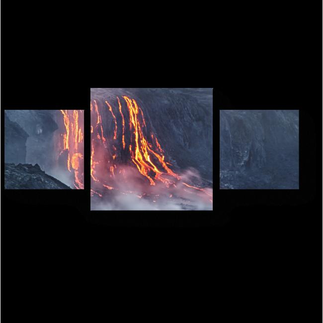 Модульная картина Гавайский вулкан