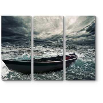 Модульная картина Во время шторма