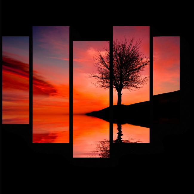 Модульная картина Алые краски заката