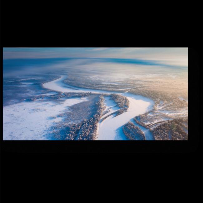 Модульная картина Замерзшая река