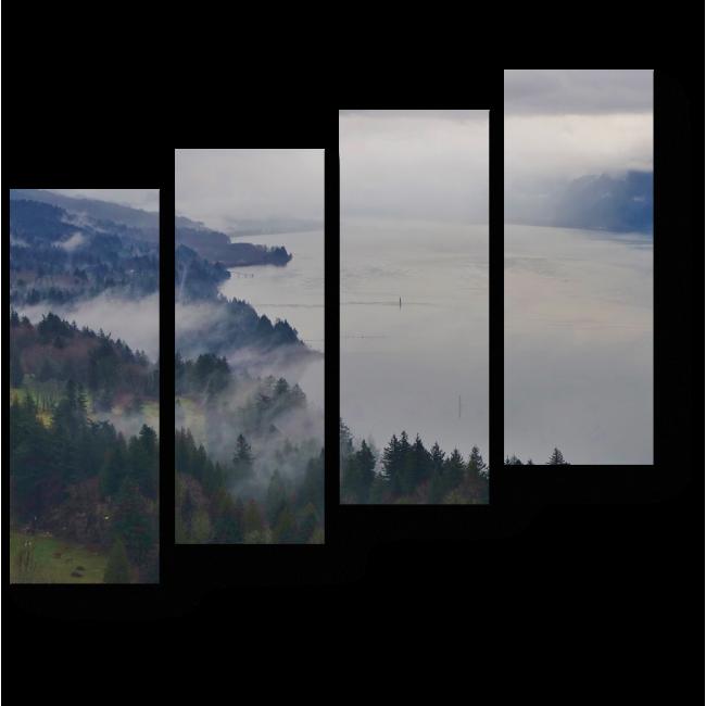 Модульная картина Река, уходящая за горизонт