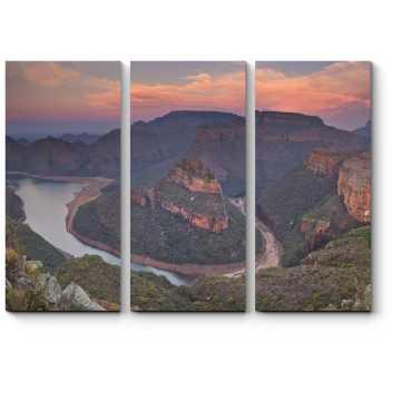Модульная картина Река, огибающая горы