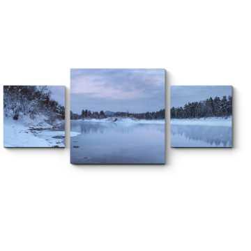 Модульная картина Морозное утро выдалось тихим