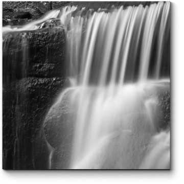 Модульная картина Монохромный водопад