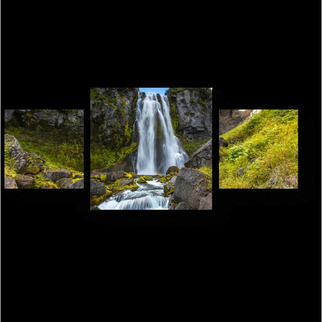 Модульная картина Горный водопад