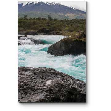 Модульная картина Водопады в чилийском национальном парке