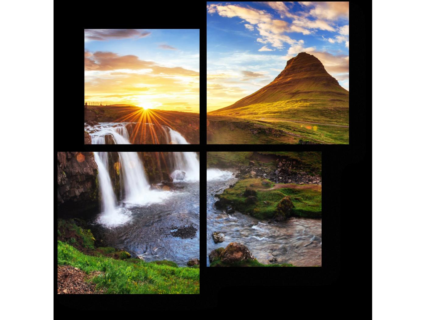 Модульная картина Живописный пейзаж Исландии (50x50) фото
