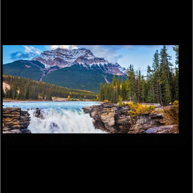 Модульная картина Мощный водопад Атабаска, Канада