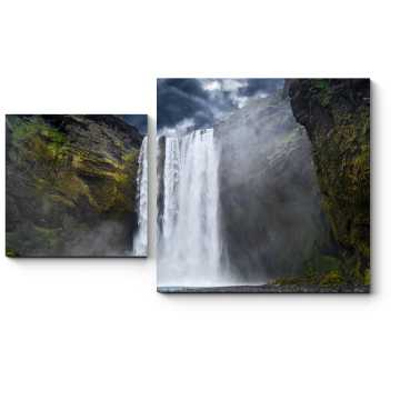 Модульная картина Захватывающий дух вид на горный водопад