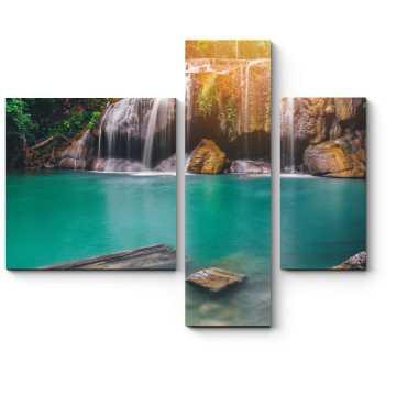 Модульная картина Водопад Эраван , Тайланд