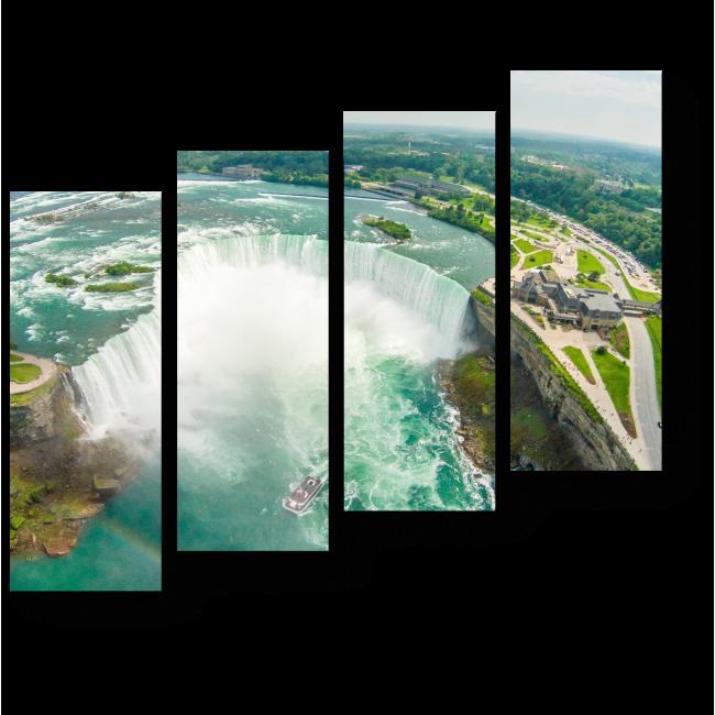 Модульная картина Ниагарский водопад