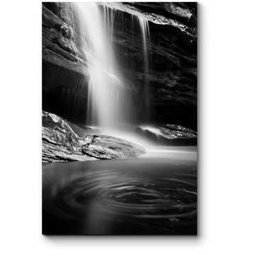Модульная картина Черно-белый водопад
