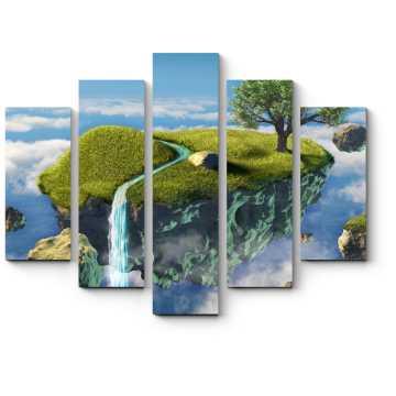 Модульная картина Воздушный водопад