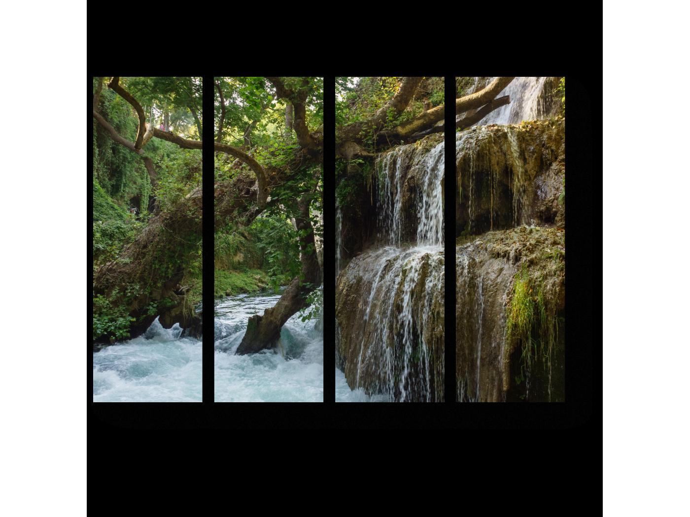 Модульная картина Водопад в лесу (60x45) фото