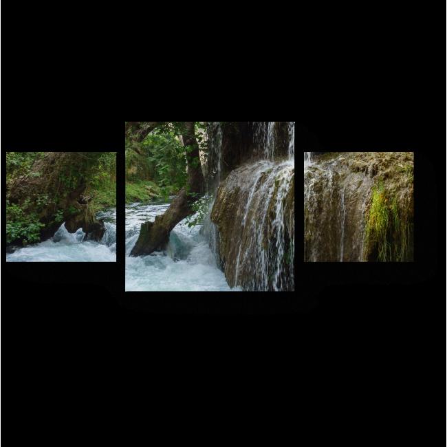 Модульная картина Водопад в лесу