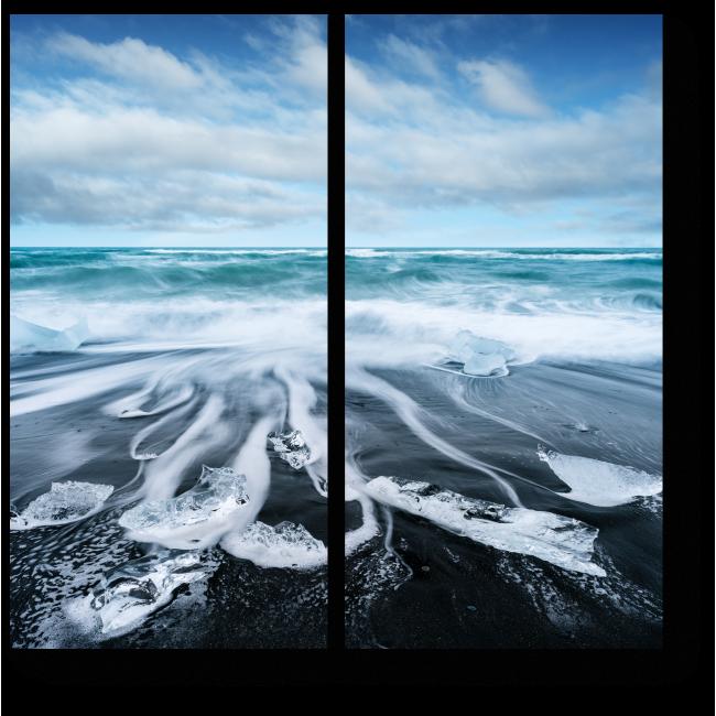 Модульная картина Волны