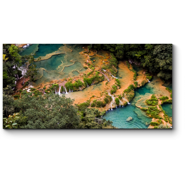 Модульная картина Кристально чистая река в Гватемале