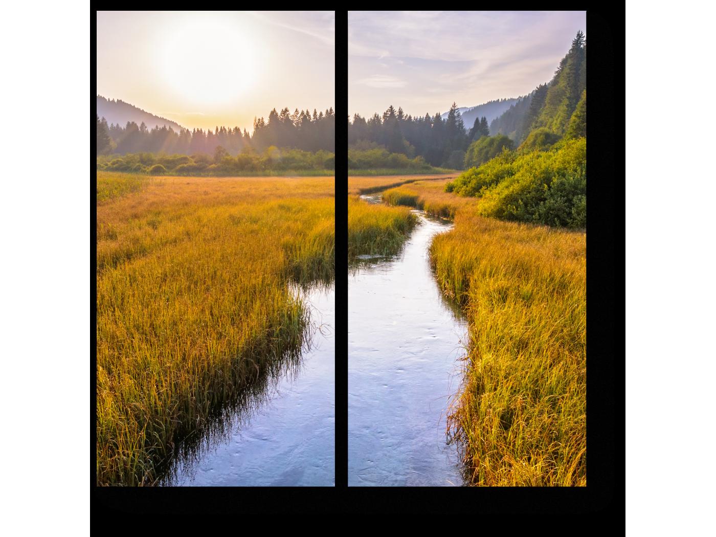 Модульная картина Нетронутое великолепие словенской природы (40x40) фото