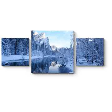 Модульная картина Зимняя река