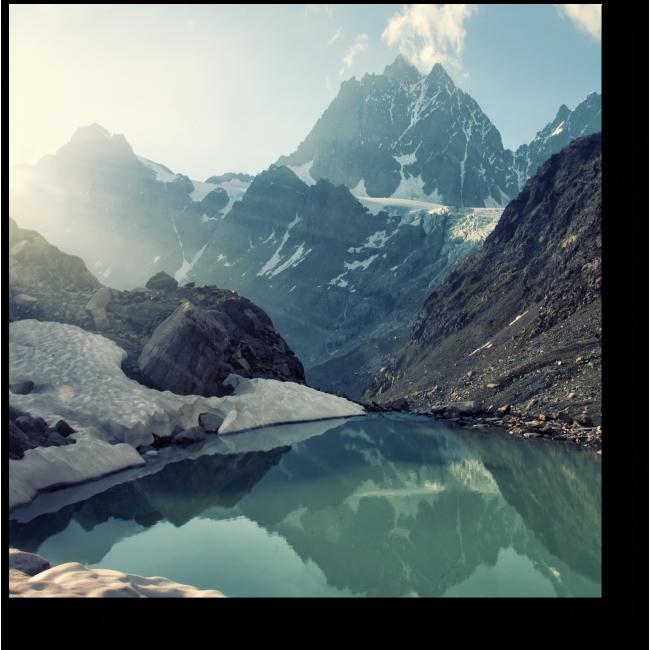 Модульная картина Таинственное озеро