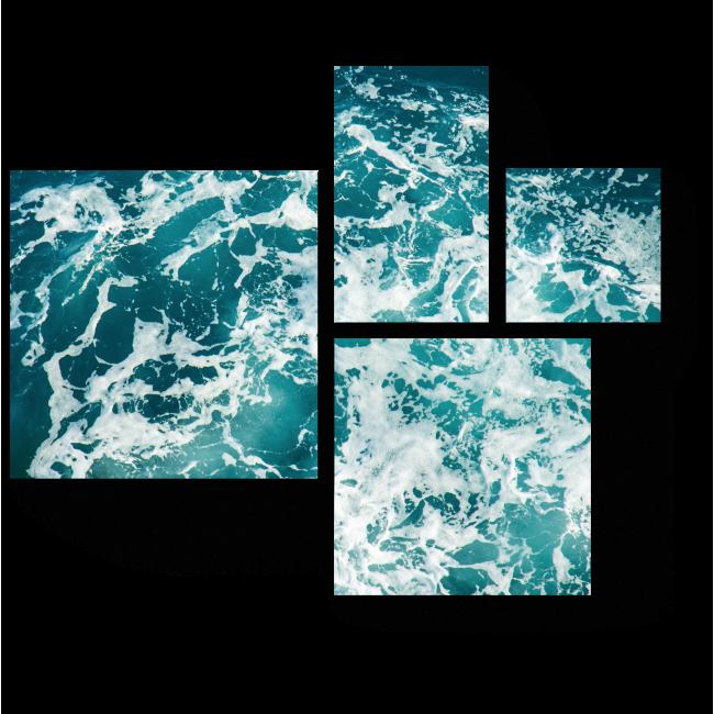 Модульная картина Бирюзовые волны