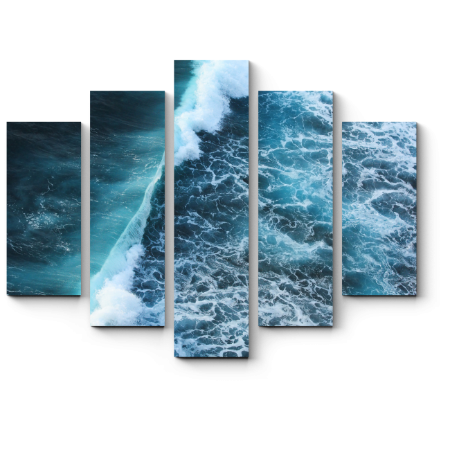 Модульная картина Волна цунами