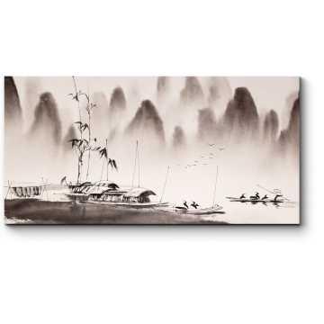 Картина китайского пейзажа