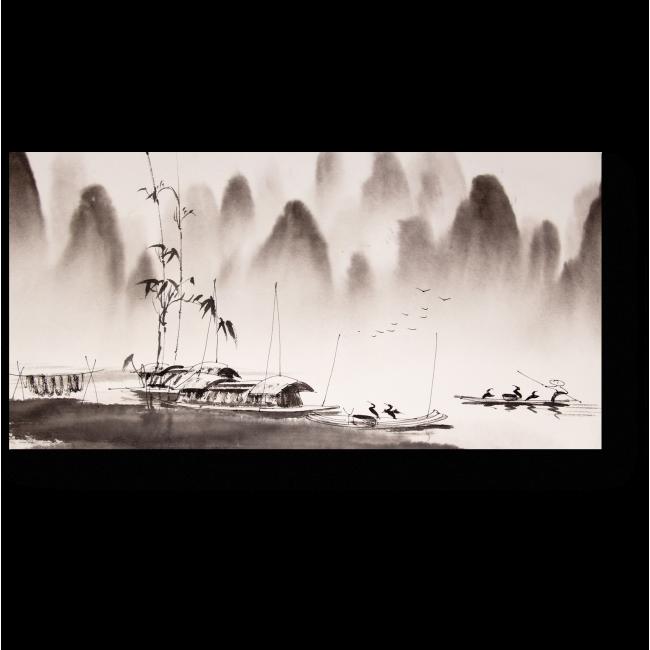 Модульная картина Картина китайского пейзажа