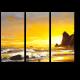 Парусник на фоне морского заката