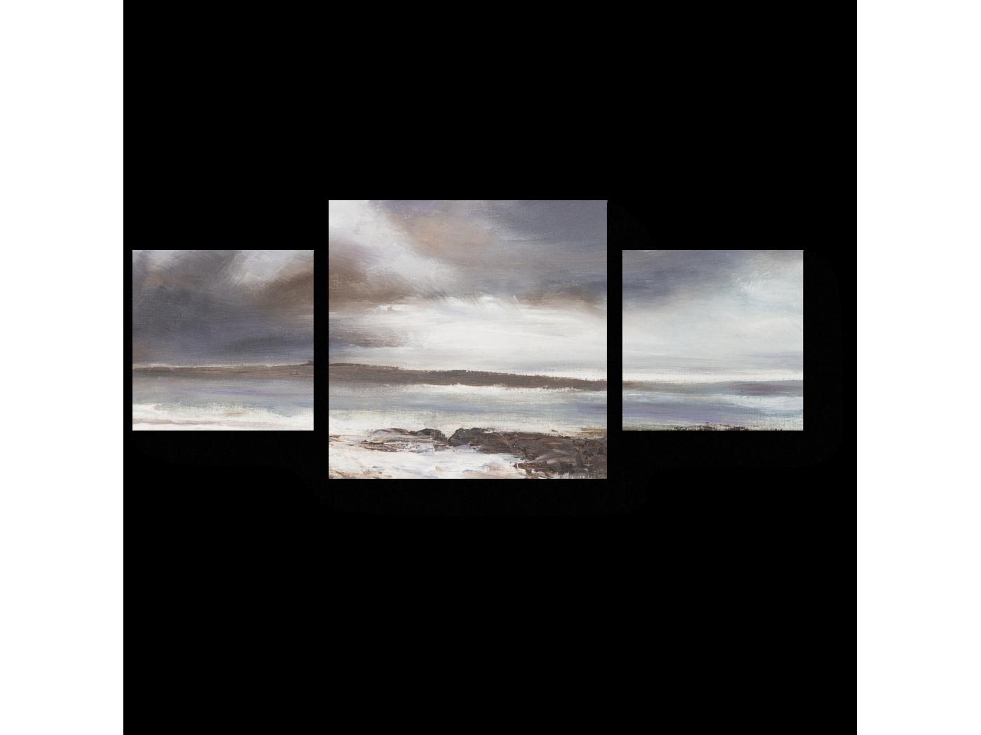 Модульная картина Морской пейзаж Бурного моря (70x30) фото