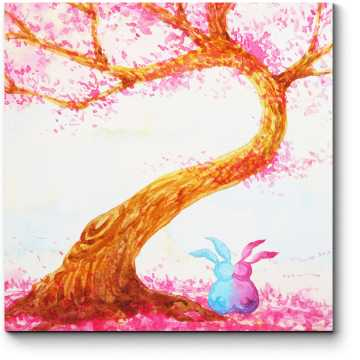 Влюбленные зайчата