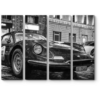 Модульная картина Гоночный ретро Феррари