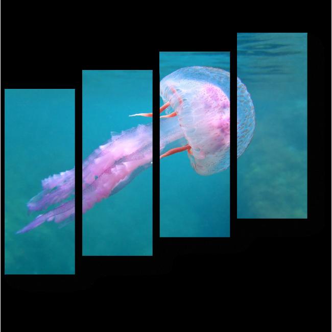 Модульная картина Опасная розовая красавица-медуза